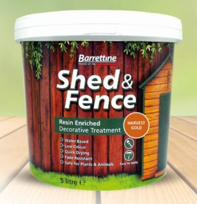 Barrettine 5L Shed and Fence Treatment - Harvest Gold SFHG005