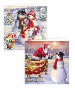 Snowman Square Christmas Cards - Pack of 12  0261528