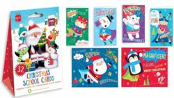 School Pack Character Christams Cards - Pack of 32  0261486