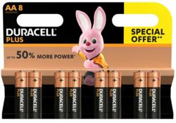 Duracell AA Batteries - Pack of 8   AA8/1541859/MN1500B8