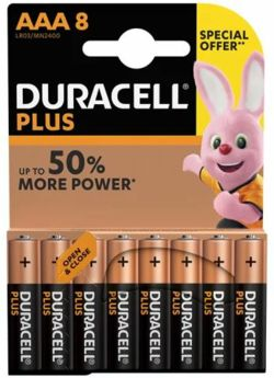 Duracell AAA  Batteries - Pack Of 8  AAA8/1541864/MN2400B8