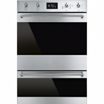 Smeg 60CM S/ST with Eclipse Glass Pyrolytic D/Oven DOSP6390X