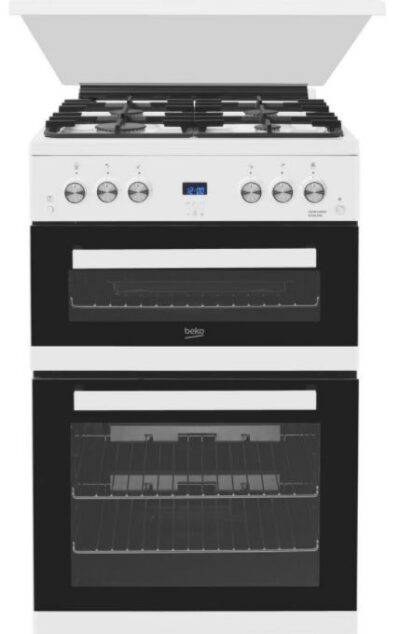 Beko Double Oven Gas Cooker EDG6L33W