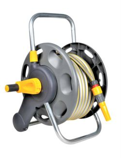 Hozelock Assembled Reel with 25m Hose and Fitting 2431