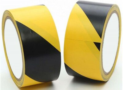 Black and Yellow 50mm x 33m Social Distancing Tape    4334