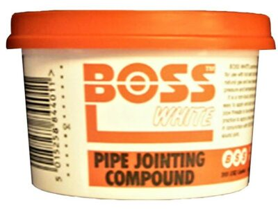 Boss 400g Pipe Jointing Compound Tub - White  0690011