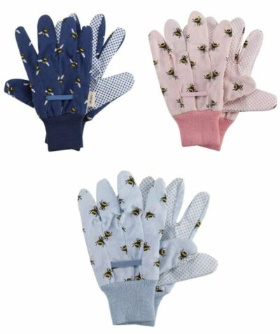 Briers Cotton Grip Gloves Bees - 3 Pack      4560021