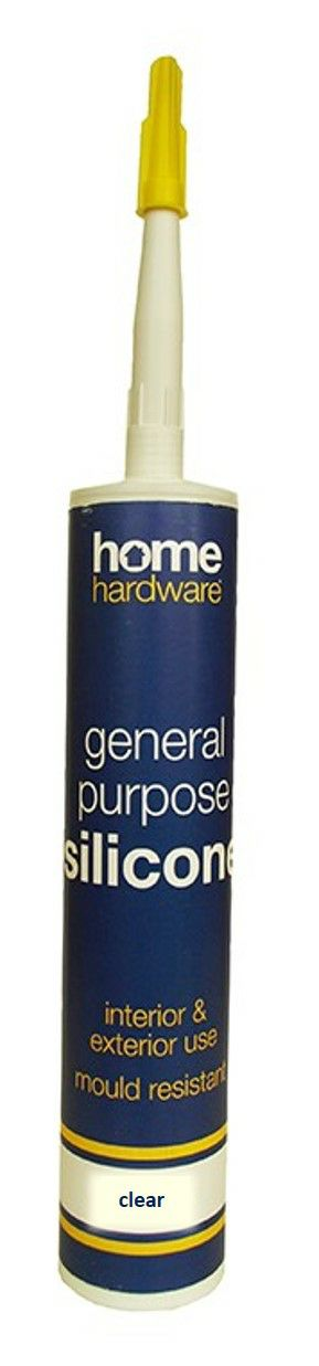 Home Hardware General Purpose Silicone - Clear 2601007 (HH1007)