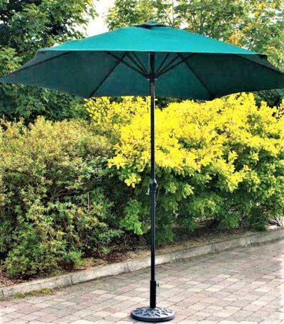 2.7m Steel Parasol with Crank - Green 2827406