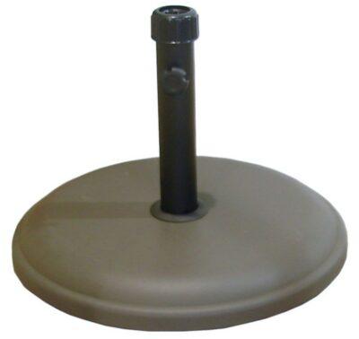 Mir 16kg Round Leather Polycrete Parasol Base - Brown 4013469