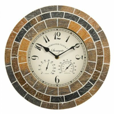 Smart Garden Stonegate Mosaic Clock and Thermometre 6326386 (5164005)