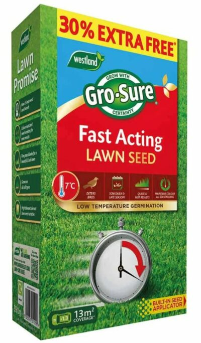 Westland 10m2 Gro-Sure Fast Act Lawn Seed  7881714