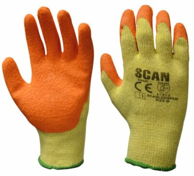 Scan Knit Shell Latex Palm Gloves Size 10 -  Pack of 12 SCALOKSPKXL
