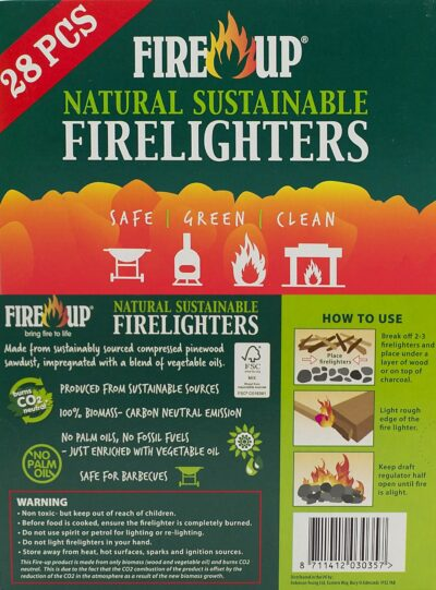 Fire Up Natural Sustainable Firelighters - 28 Pieces 10677 (0360290)